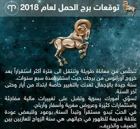 الحمل - توقعات الابراج لعام 2018