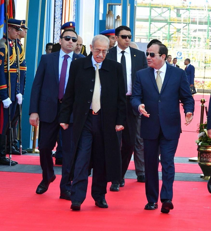 الفتاح السيسي في حقل ظهر بورسعيد 1 - زيارة الرئيس عبد الفتاح السيسي محافظة بورسعيد حقل ظهر