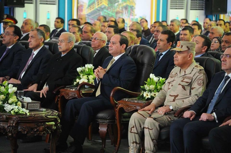 الفتاح السيسي في حقل ظهر بورسعيد - زيارة الرئيس عبد الفتاح السيسي محافظة بورسعيد حقل ظهر
