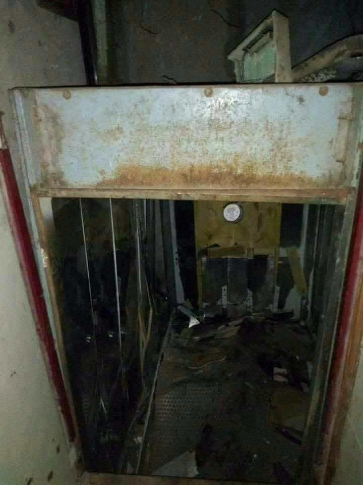 3 2 - بالصور سقوط اسانسير مستشفى بنها الجامعي