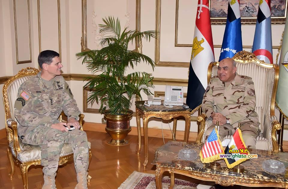 العام للقوات المسلحة - الفريق صدقى صبحى يلتقي بقائد القيادة المركزية الامريكية