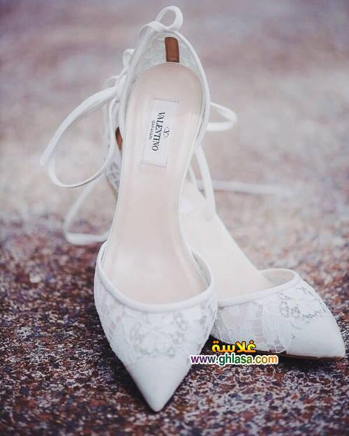 صور صندل فستان الزفاف