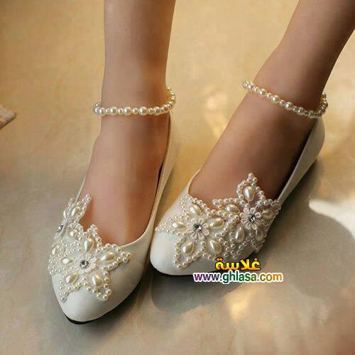 احذية فساتين الزفاف للعروسة