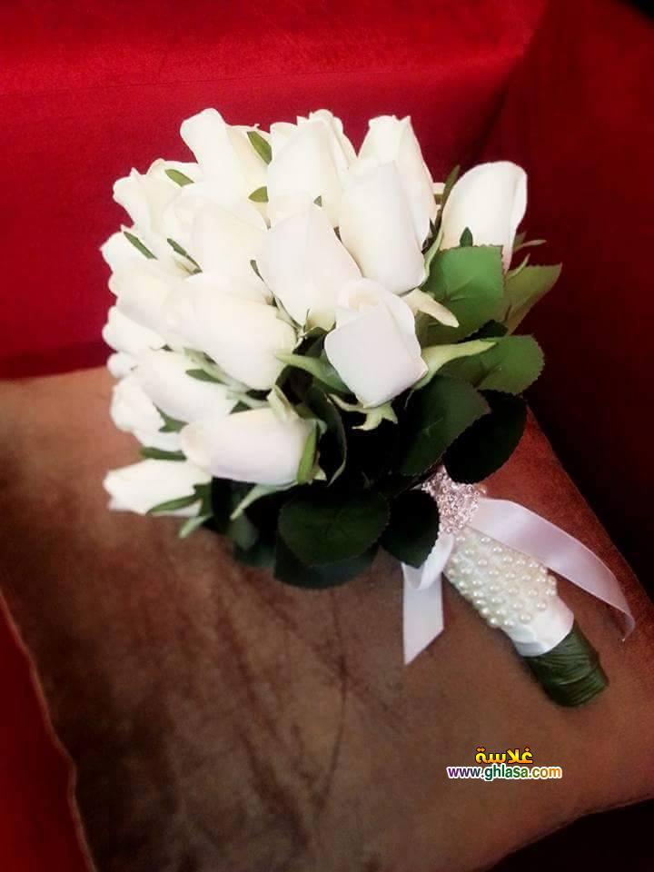 ورد فستان الزفاف 13 - صور باقة ورد لفساتين الزفاف والخطوبة
