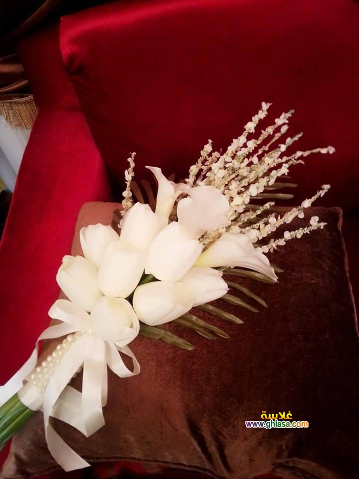 ورد فستان الزفاف 14 - صور باقة ورد لفساتين الزفاف والخطوبة
