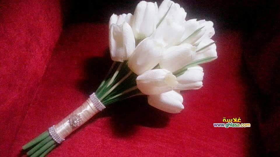 ورد فستان الزفاف 15 - صور باقة ورد لفساتين الزفاف والخطوبة
