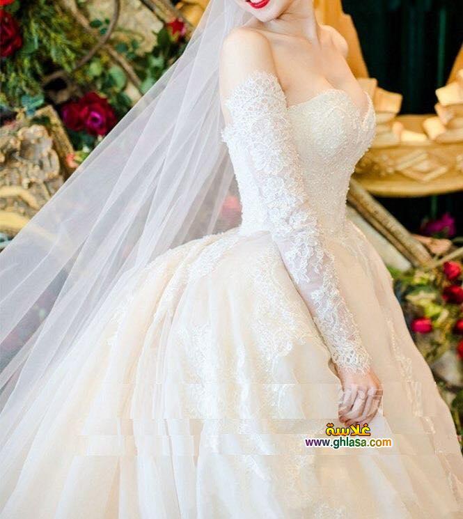 اجمل فساتين زفاف 2018