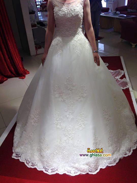 فستان زفاف ابيض فساتين زفاف ليلة العمر 2018