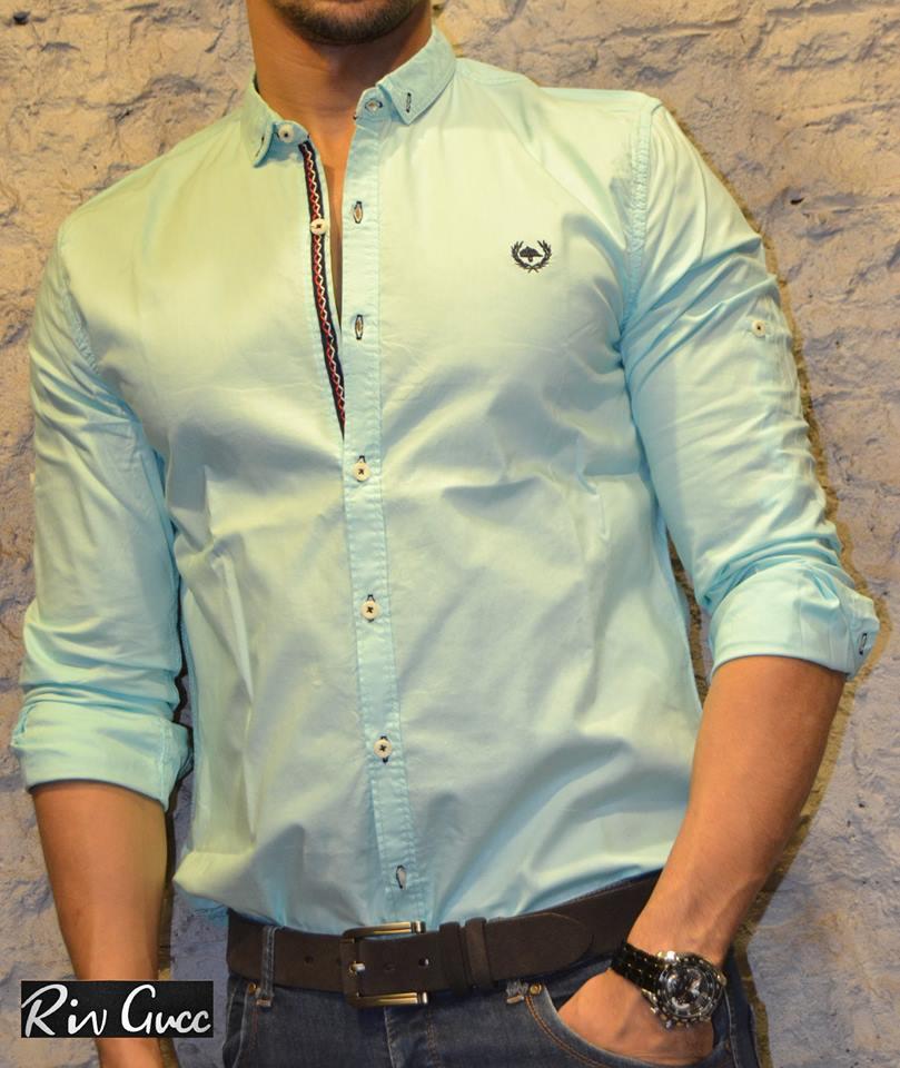 2018 17 - احدث موديلات قميص رجالى للشباب الكاجول 2018