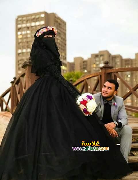 اول عروسة مصرية ترتدي فستان زفاف اسود 2018