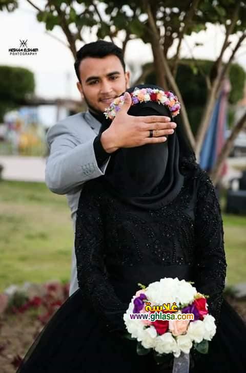4 - اول عروسة مصرية ترتدي فستان زفاف اسود 2018