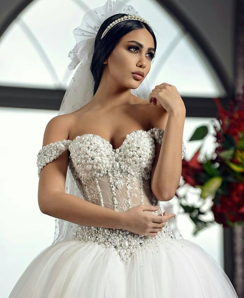 اجمل فستان خطوبة للعروسة