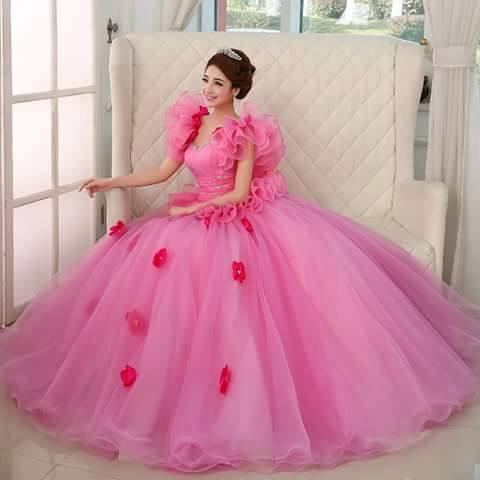 اجمل فستان خطوبة لون تحفة