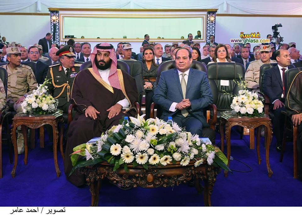 لقاء السيسي بالامير محمد بن سلمان