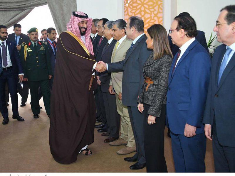 تفاصيل لقاء السيسي بالامير محمد بن سلمان ولي عهد السعودية في مصر اليوم