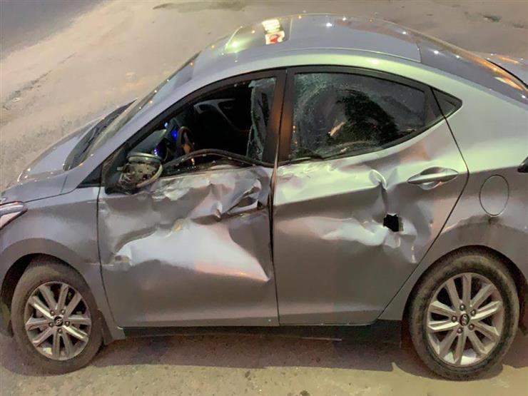 اصابه شخصين من ادكو نتيجة حادث تصادم سيارتين